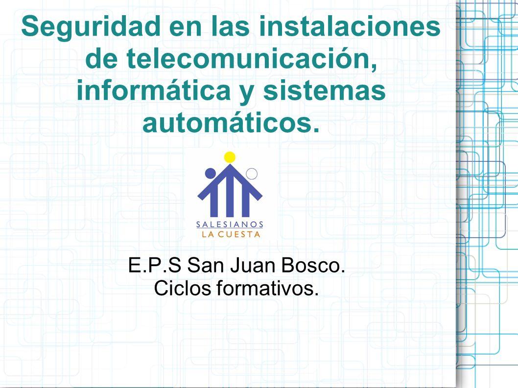 E.P.S San Juan Bosco. Ciclos formativos.