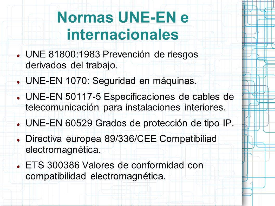 Normas UNE-EN e internacionales