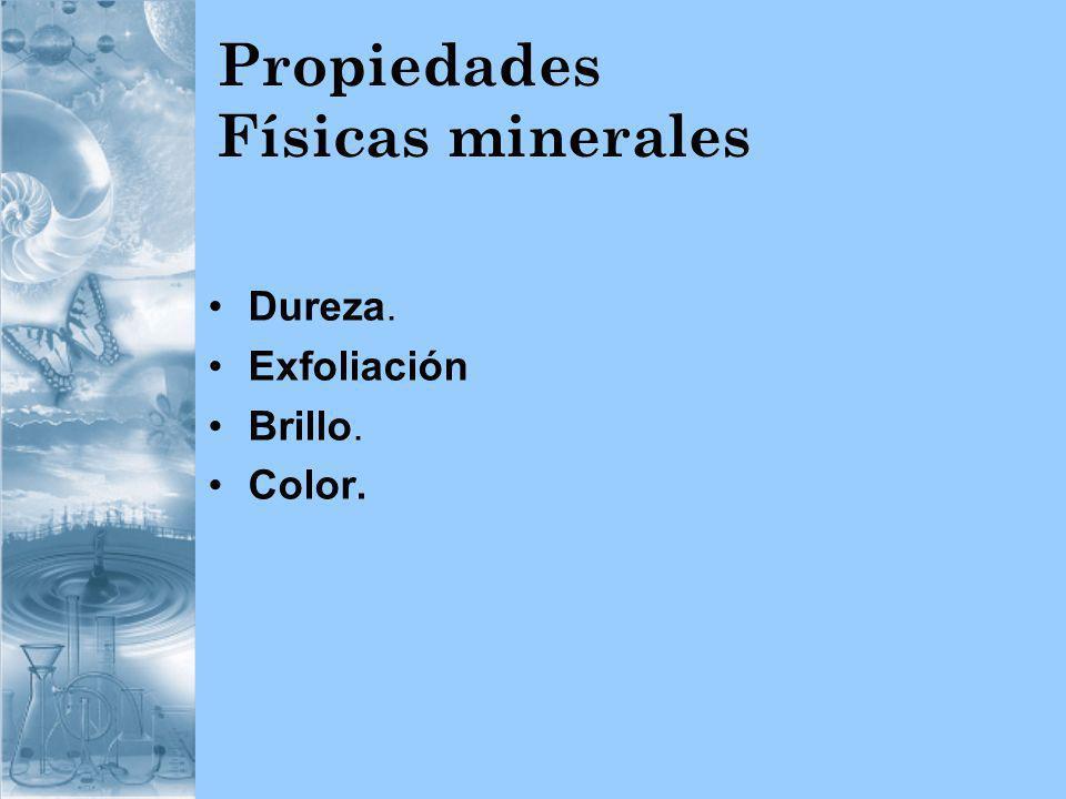 Propiedades Físicas minerales