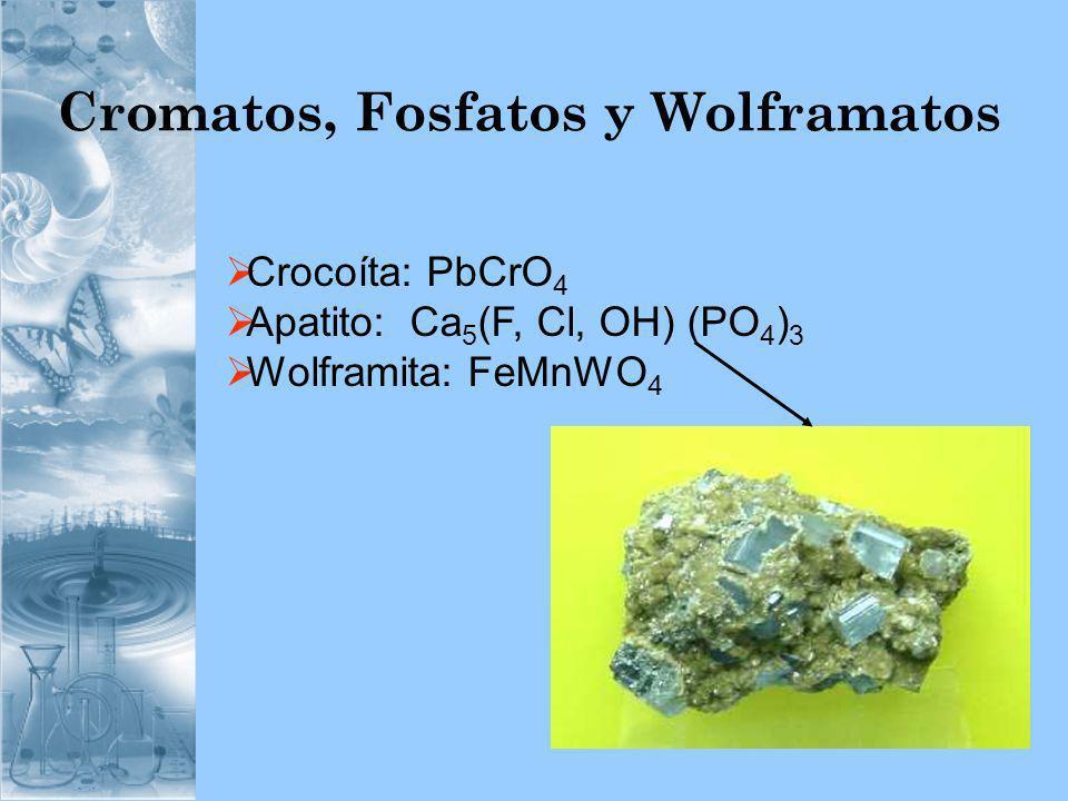 Cromatos, Fosfatos y Wolframatos