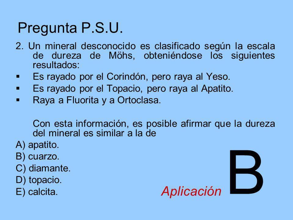 B Pregunta P.S.U. Aplicación