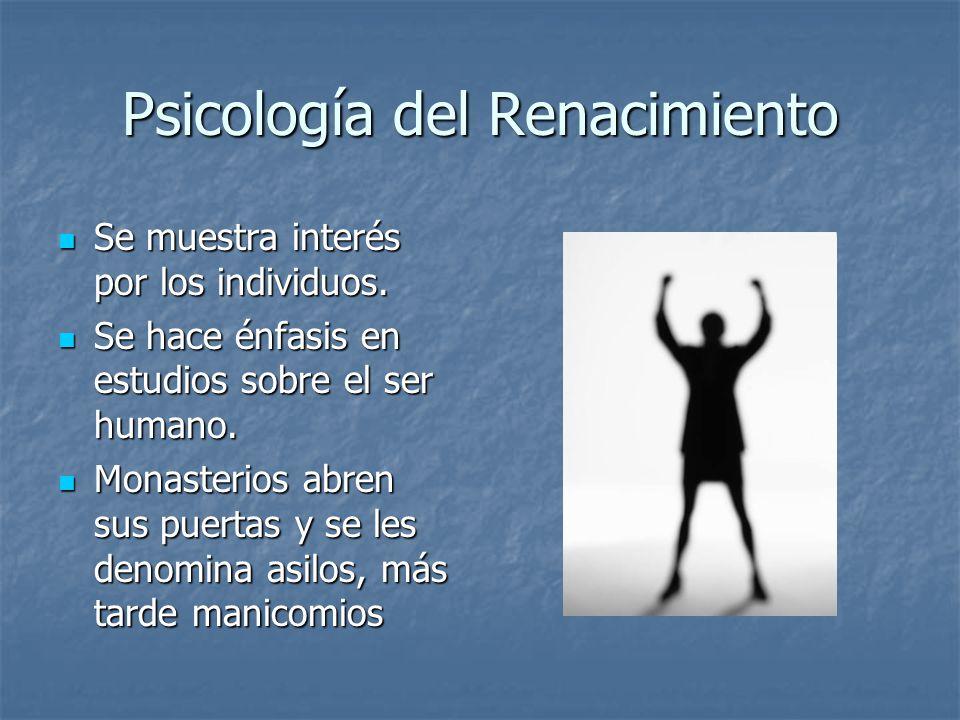 Psicología del Renacimiento