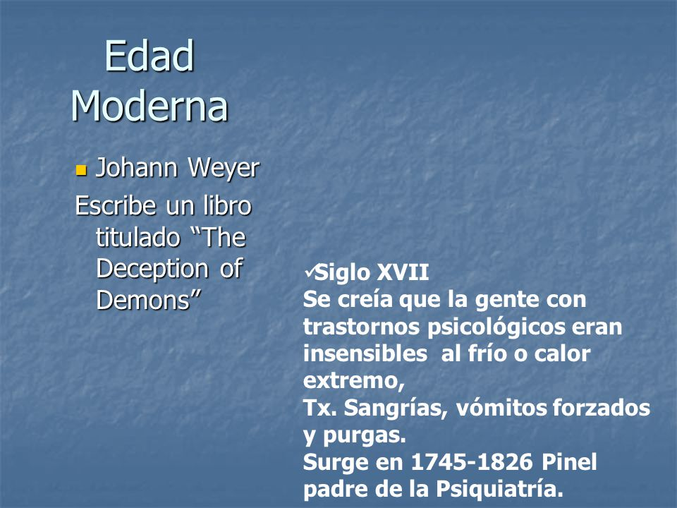 Edad Moderna Johann Weyer
