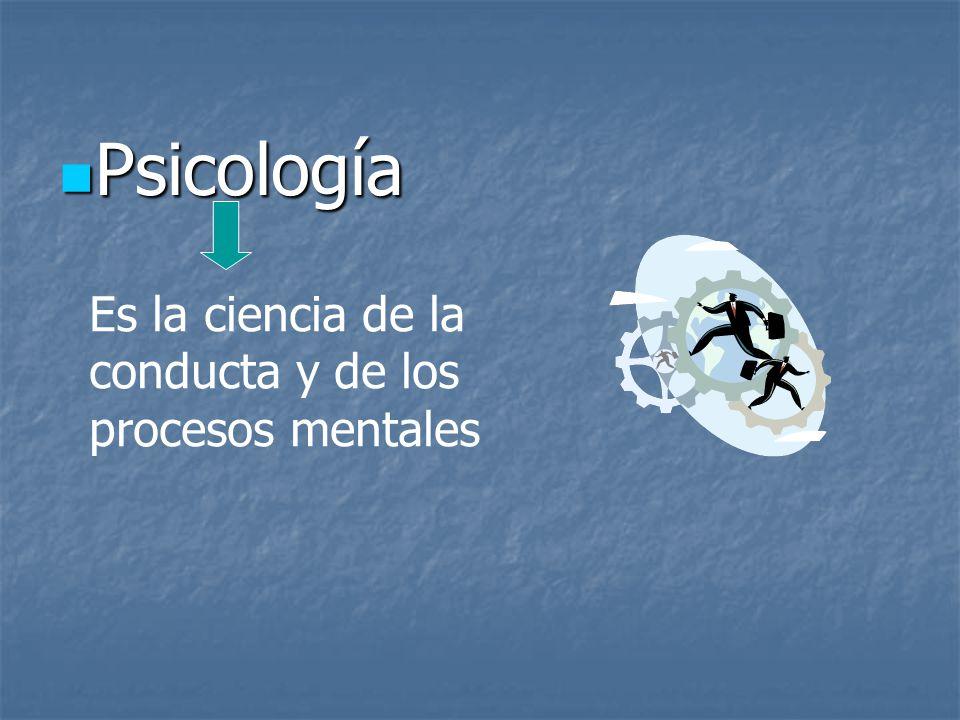 Psicología Es la ciencia de la conducta y de los procesos mentales