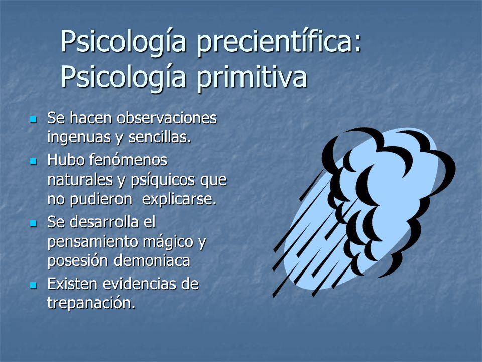 Psicología precientífica: Psicología primitiva