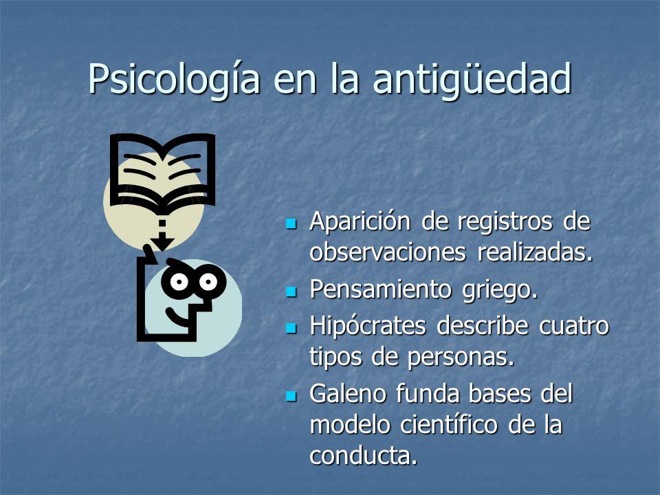 Psicología en la antigüedad