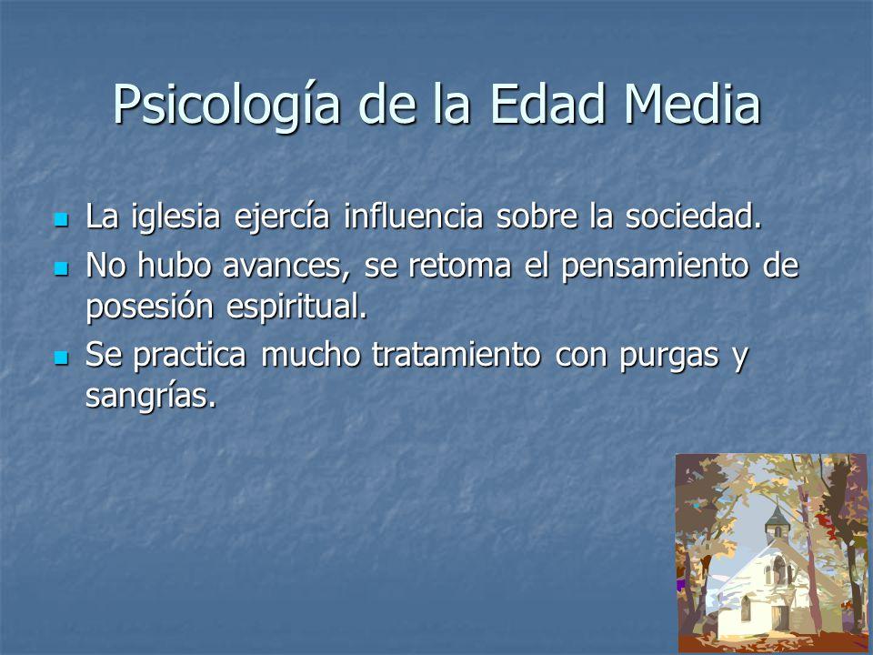 Psicología de la Edad Media