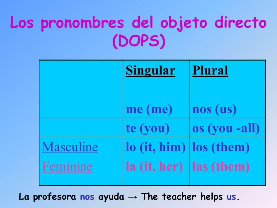 Los pronombres del objeto directo (DOPS)