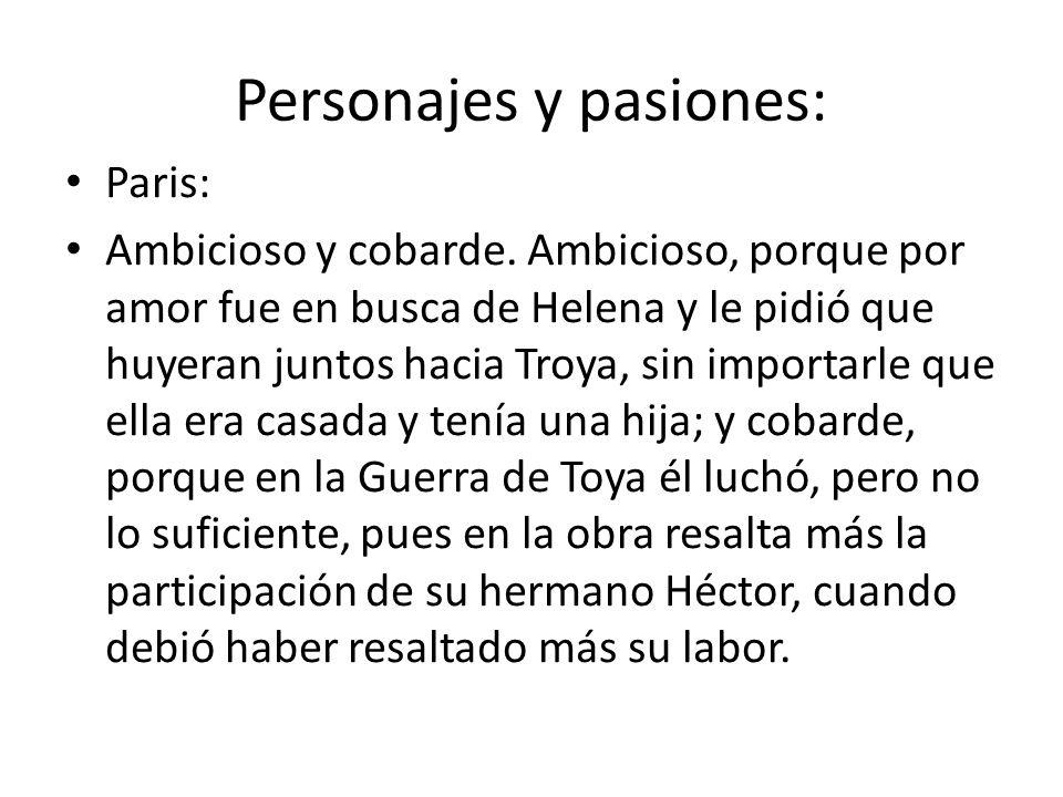 Personajes y pasiones: