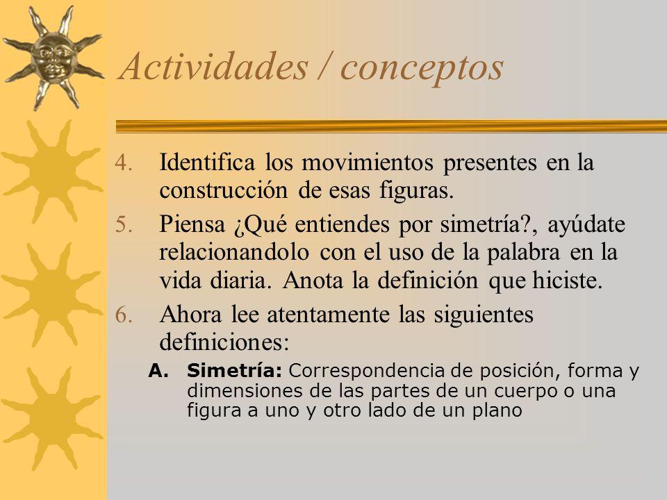 Actividades / conceptos