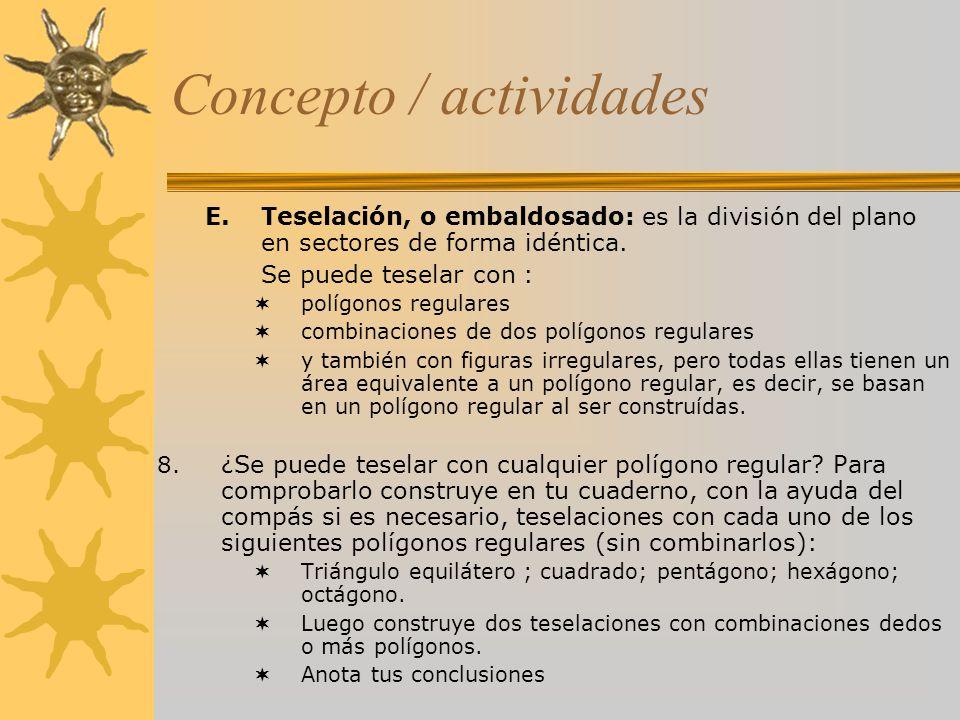Concepto / actividades