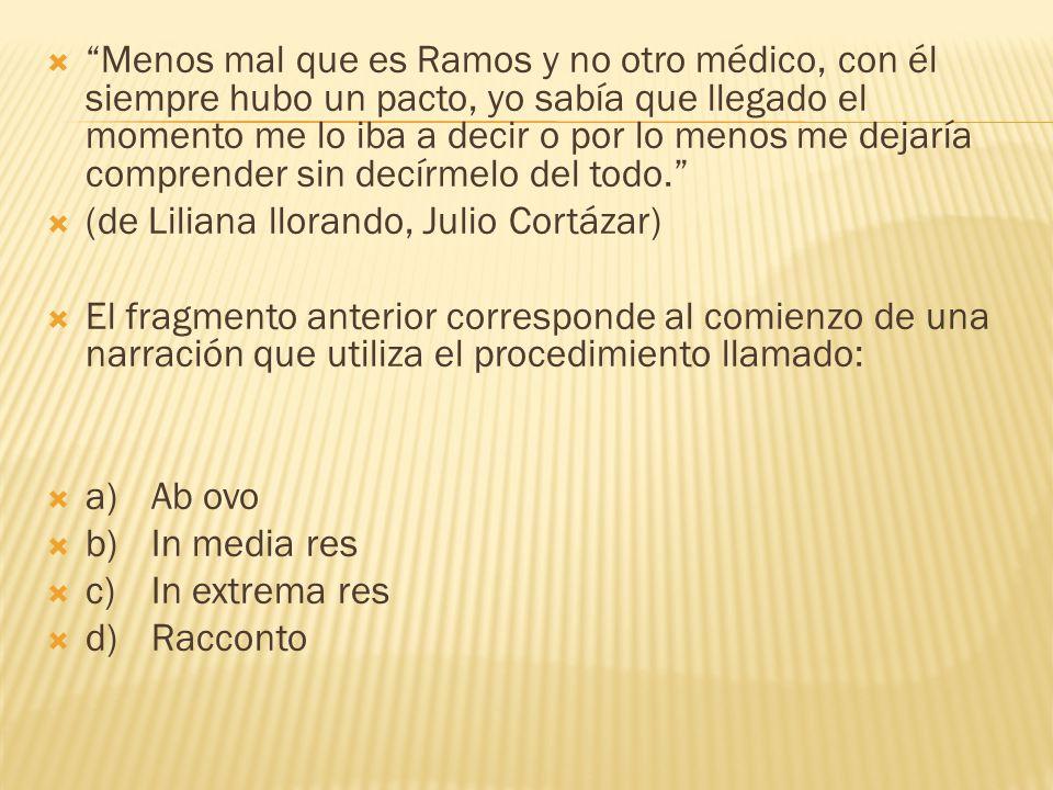 Menos mal que es Ramos y no otro médico, con él siempre hubo un pacto, yo sabía que llegado el momento me lo iba a decir o por lo menos me dejaría comprender sin decírmelo del todo.