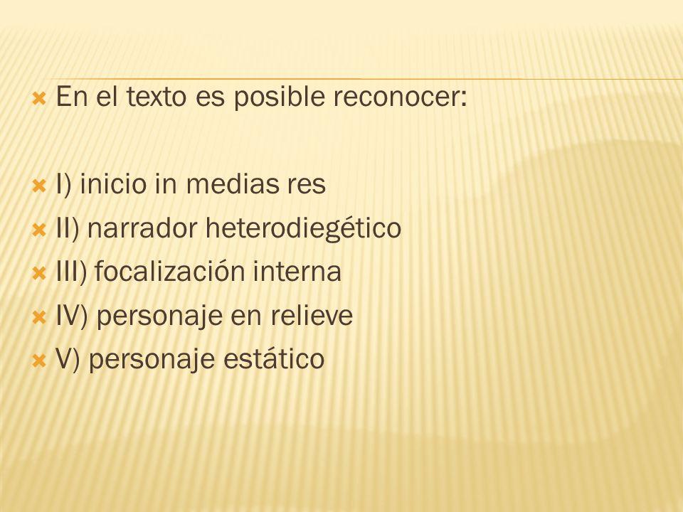 En el texto es posible reconocer: