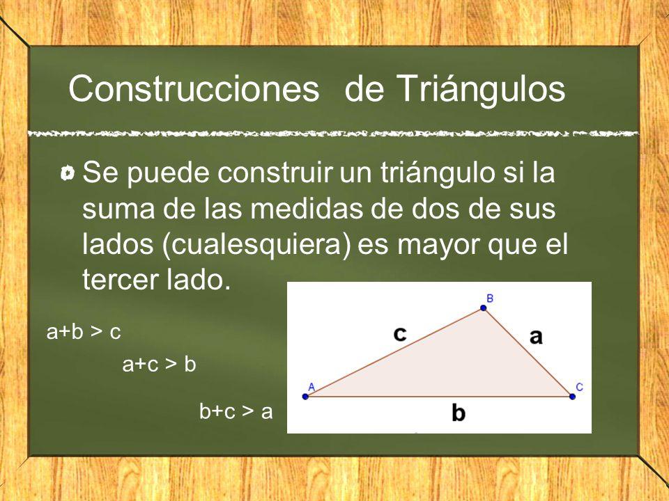 Construcciones de Triángulos