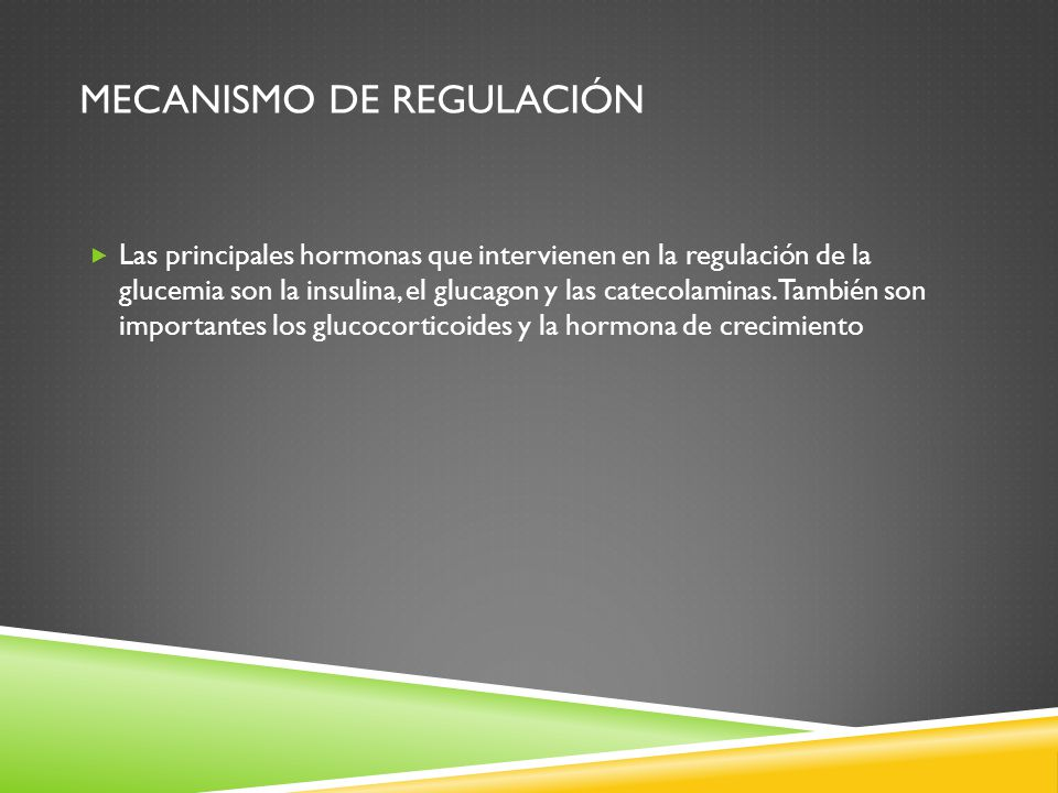 Mecanismo de regulación