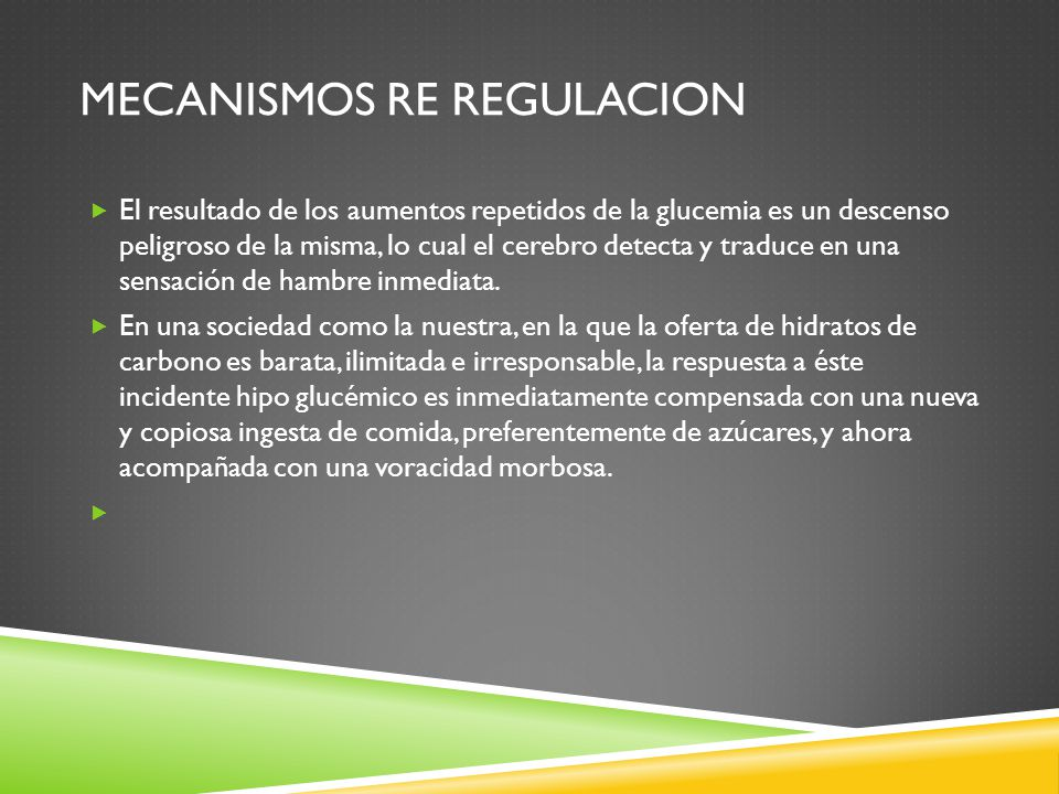 Mecanismos re regulacion