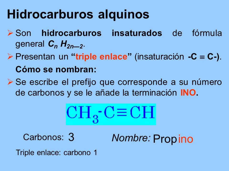Hidrocarburos alquinos