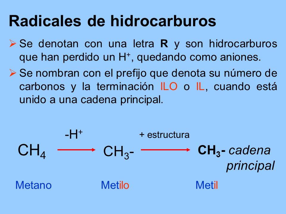 Radicales de hidrocarburos