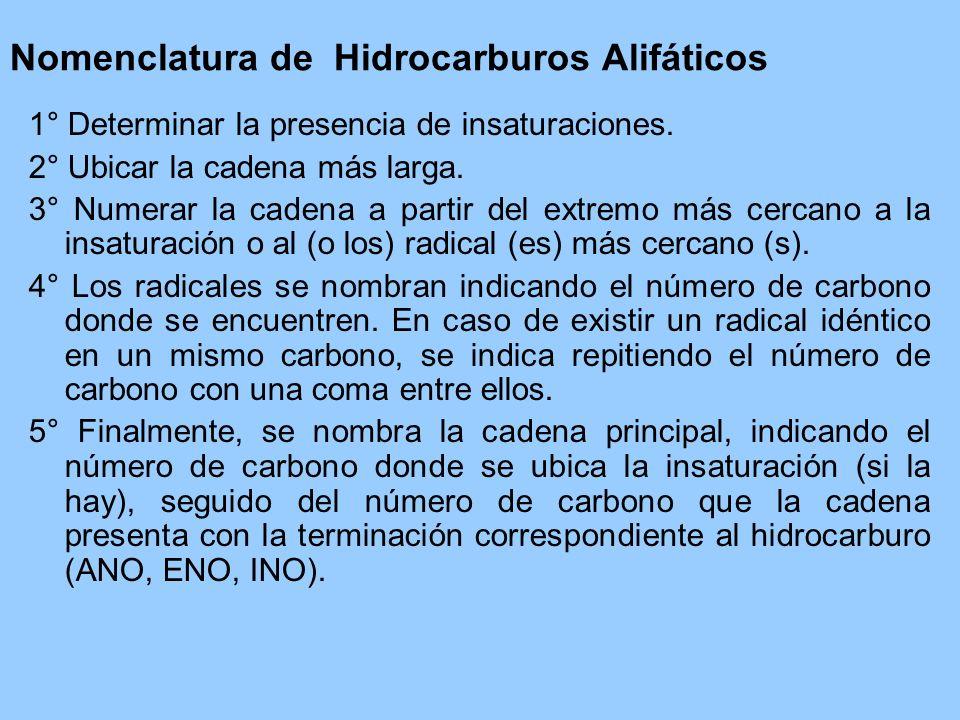 Nomenclatura de Hidrocarburos Alifáticos