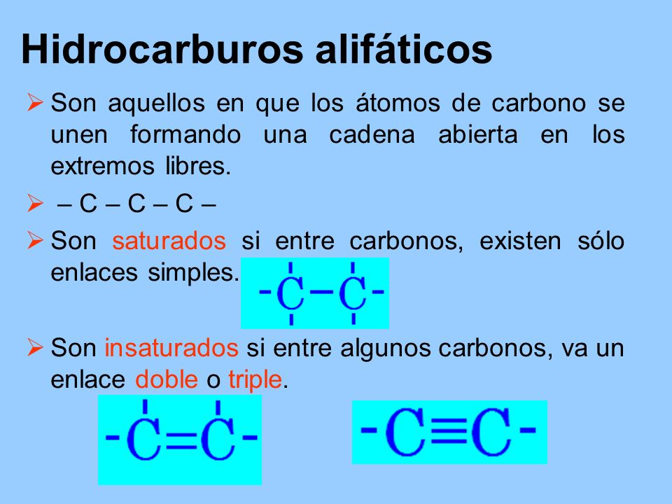 Hidrocarburos alifáticos