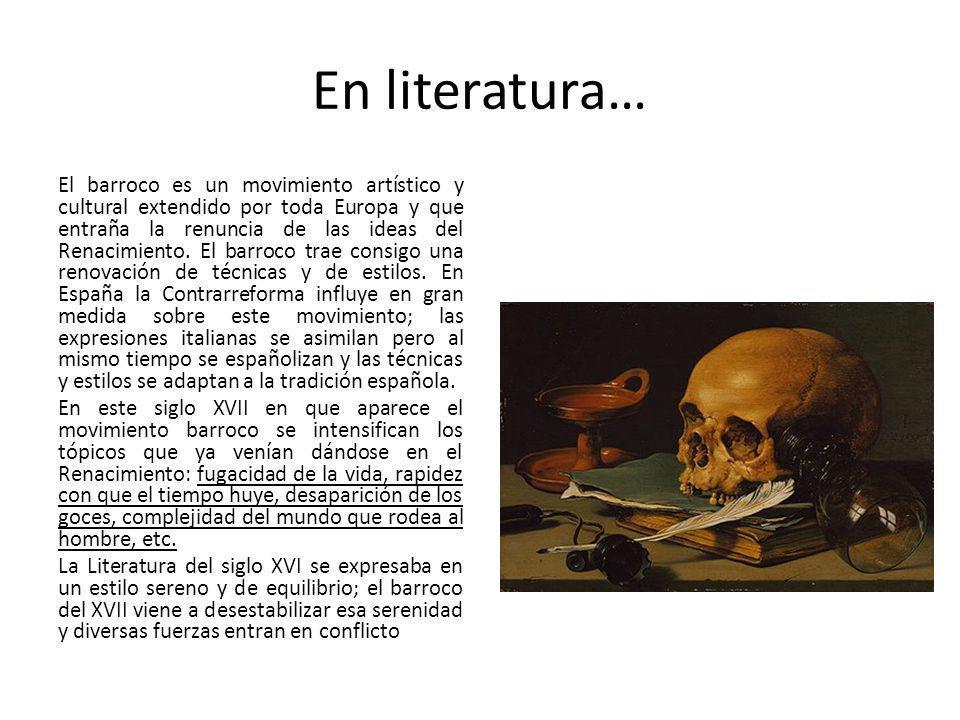 En literatura…
