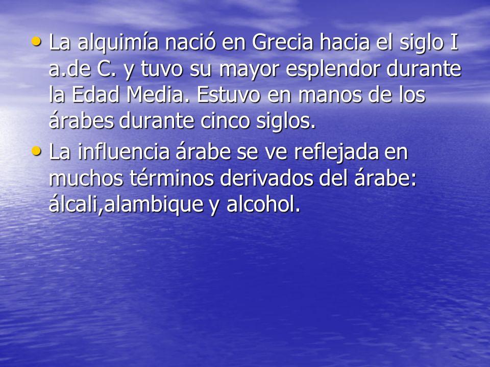 La alquimía nació en Grecia hacia el siglo I a. de C
