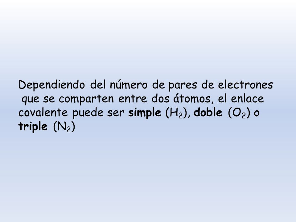 Dependiendo del número de pares de electrones