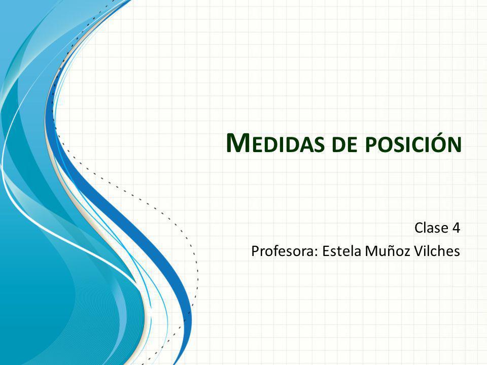 Clase 4 Profesora: Estela Muñoz Vilches