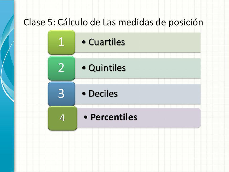Clase 5: Cálculo de Las medidas de posición