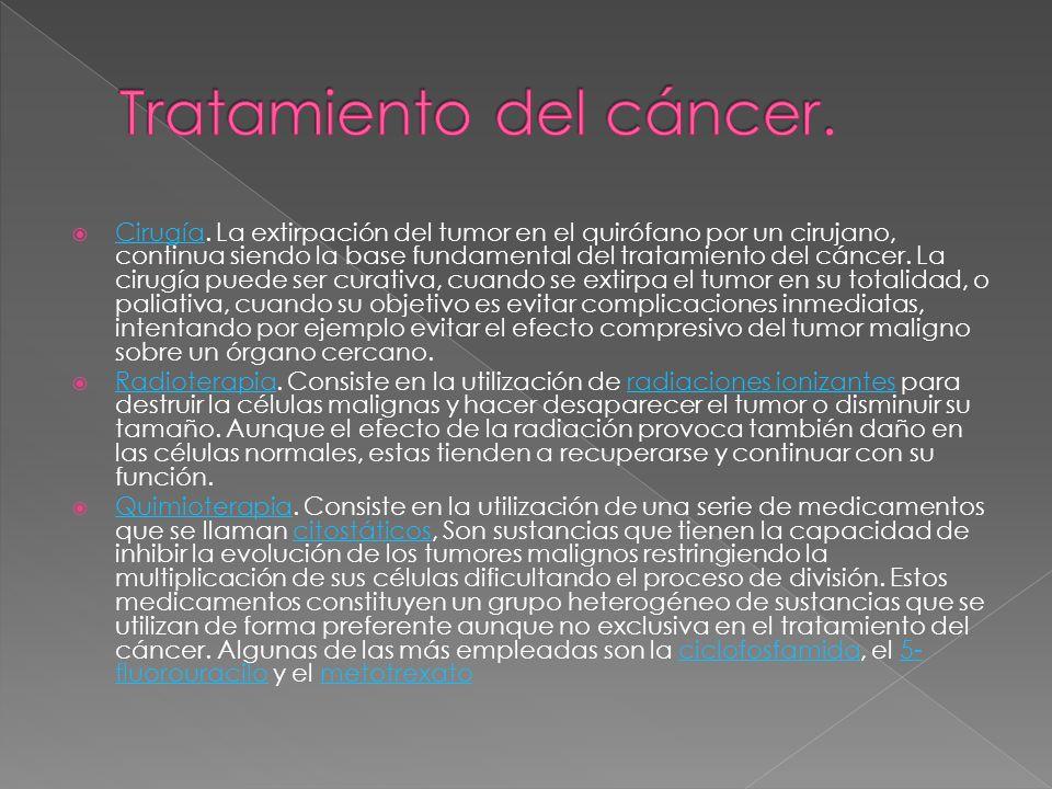 Tratamiento del cáncer.