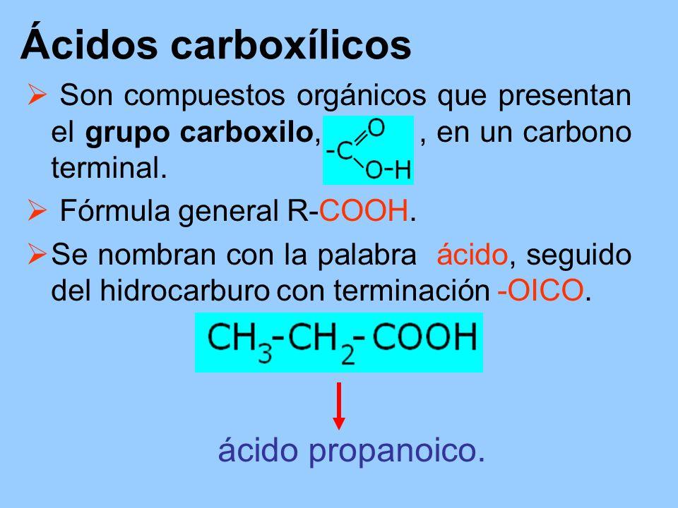Ácidos carboxílicos ácido propanoico.