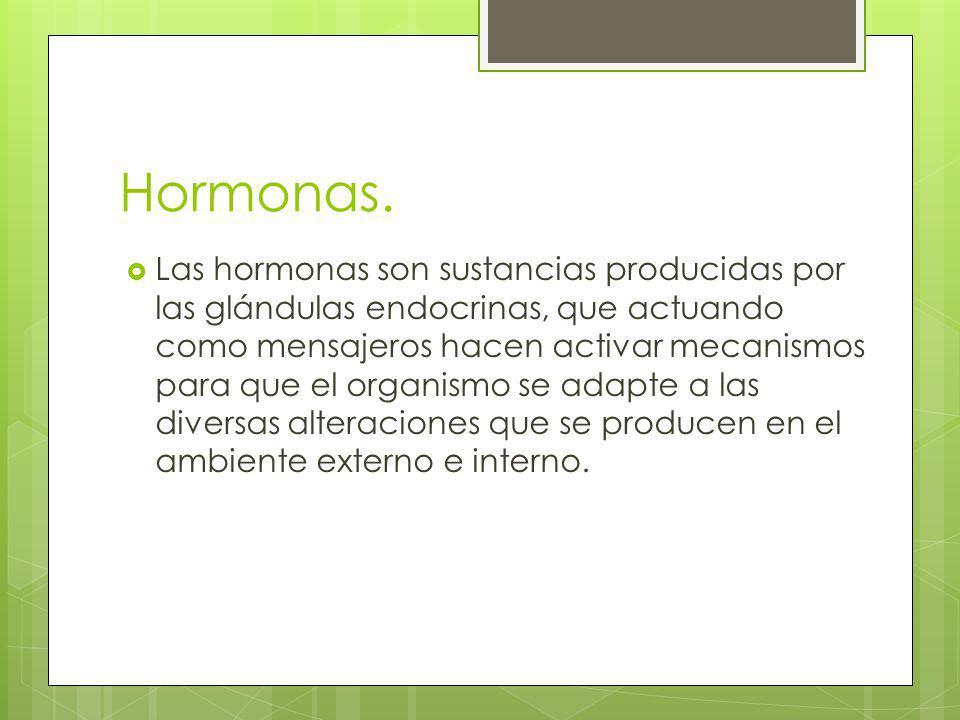 Hormonas.