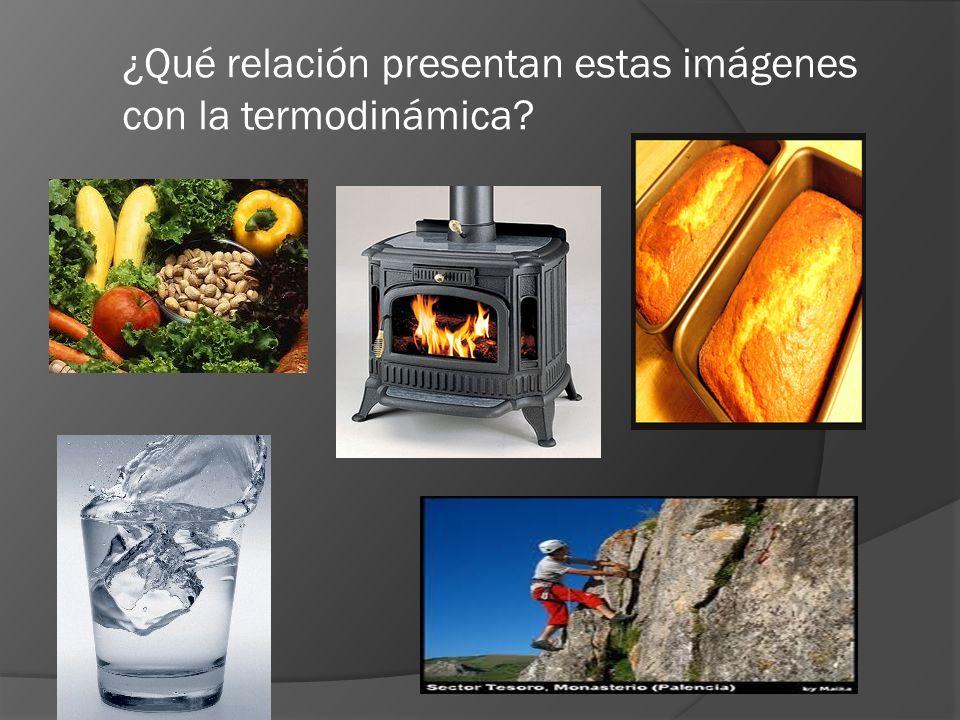 ¿Qué relación presentan estas imágenes con la termodinámica