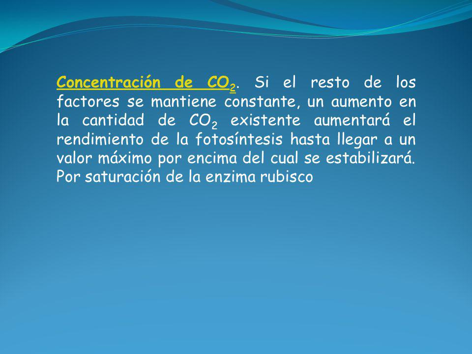Concentración de CO2.