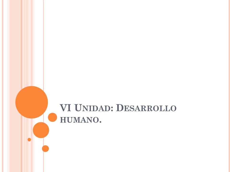 VI Unidad: Desarrollo humano.
