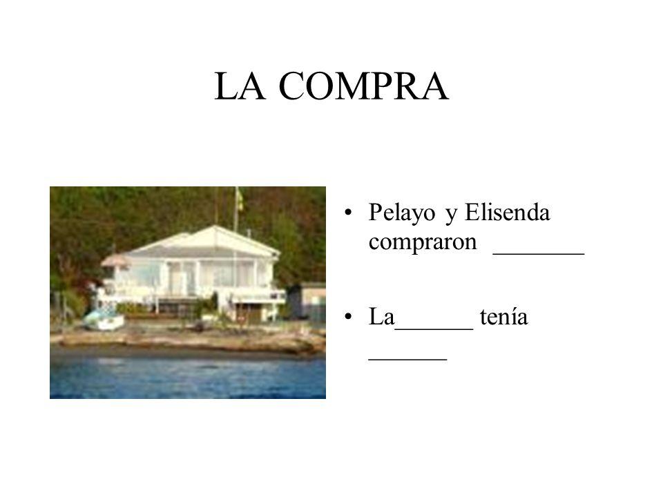 LA COMPRA Pelayo y Elisenda compraron _______ La______ tenía ______