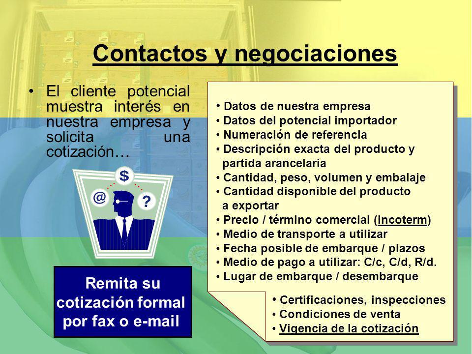 Contactos y negociaciones