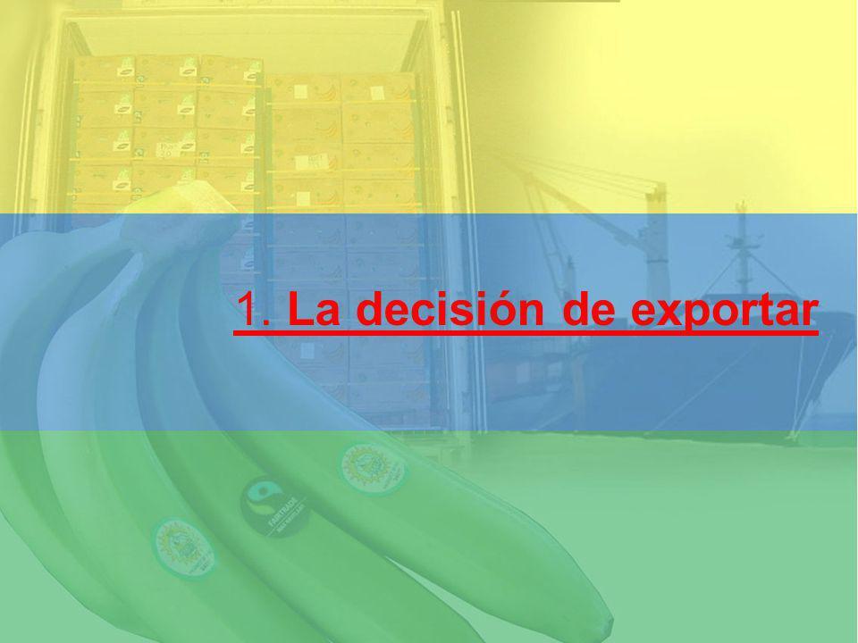 1. La decisión de exportar