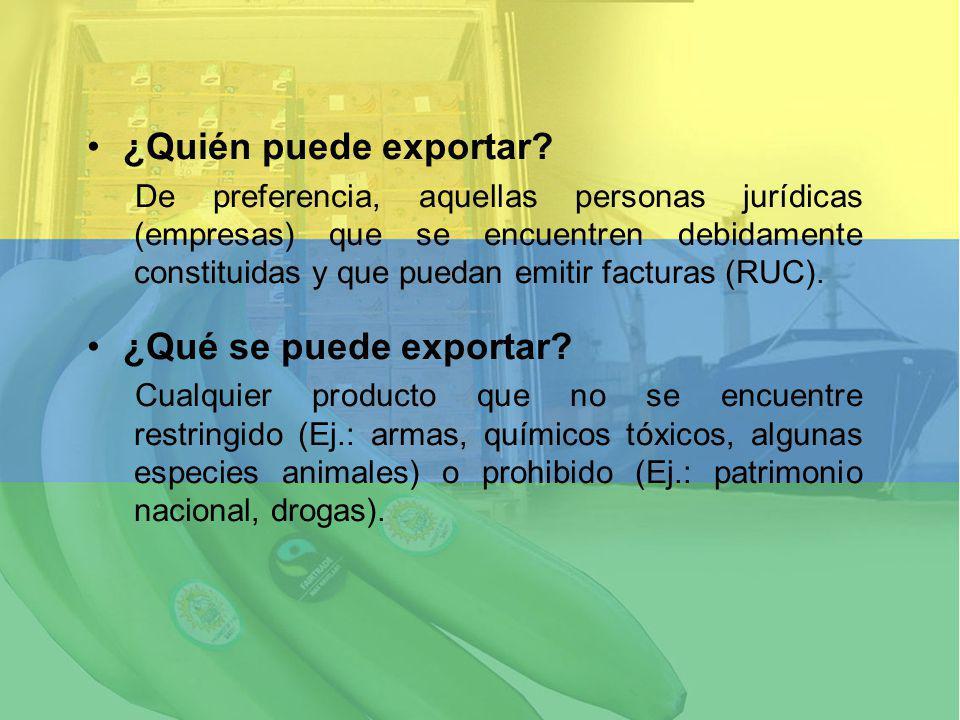 ¿Quién puede exportar ¿Qué se puede exportar