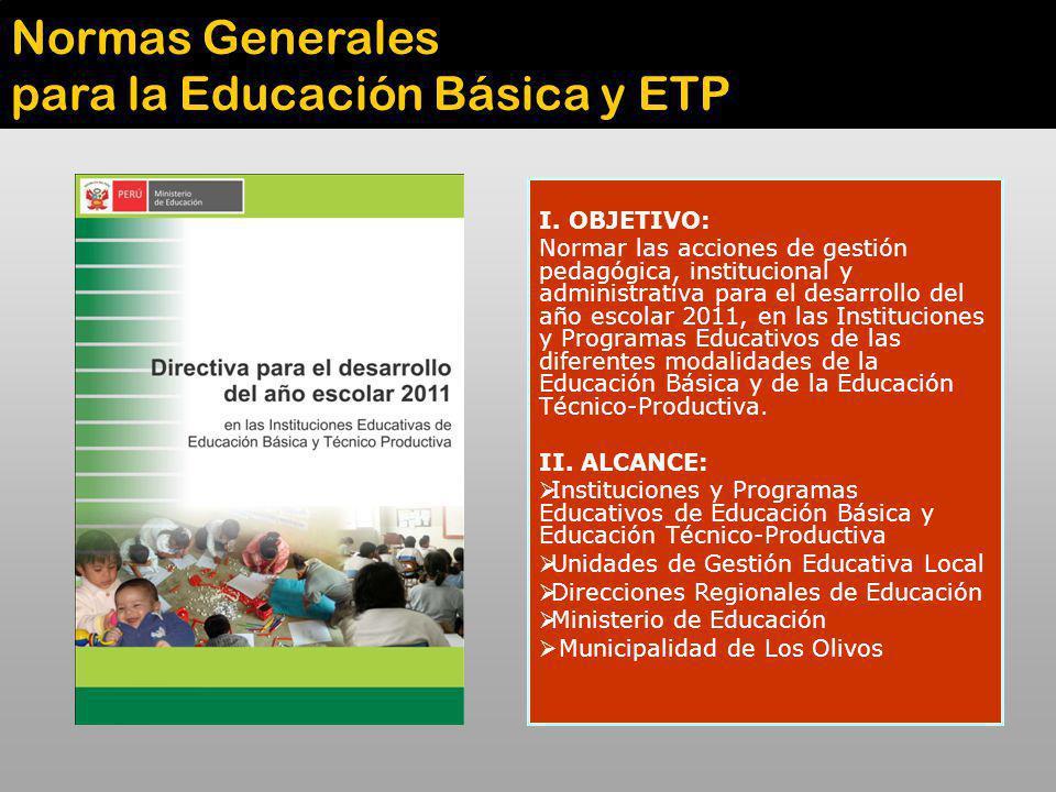 para la Educación Básica y ETP