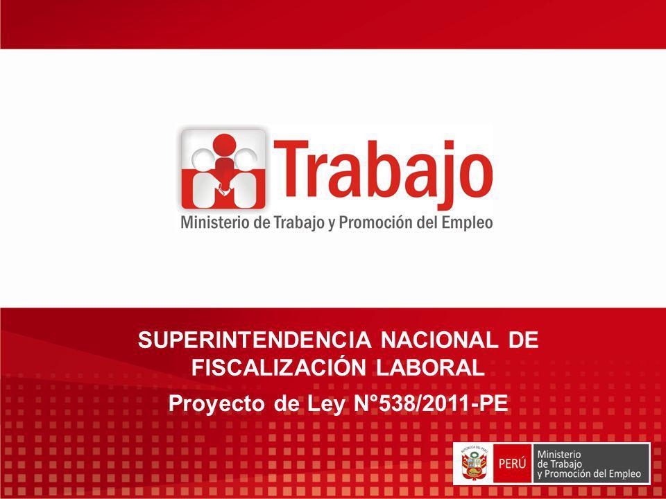 SUPERINTENDENCIA NACIONAL DE FISCALIZACIÓN LABORAL
