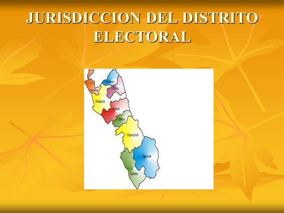 JURISDICCION DEL DISTRITO ELECTORAL