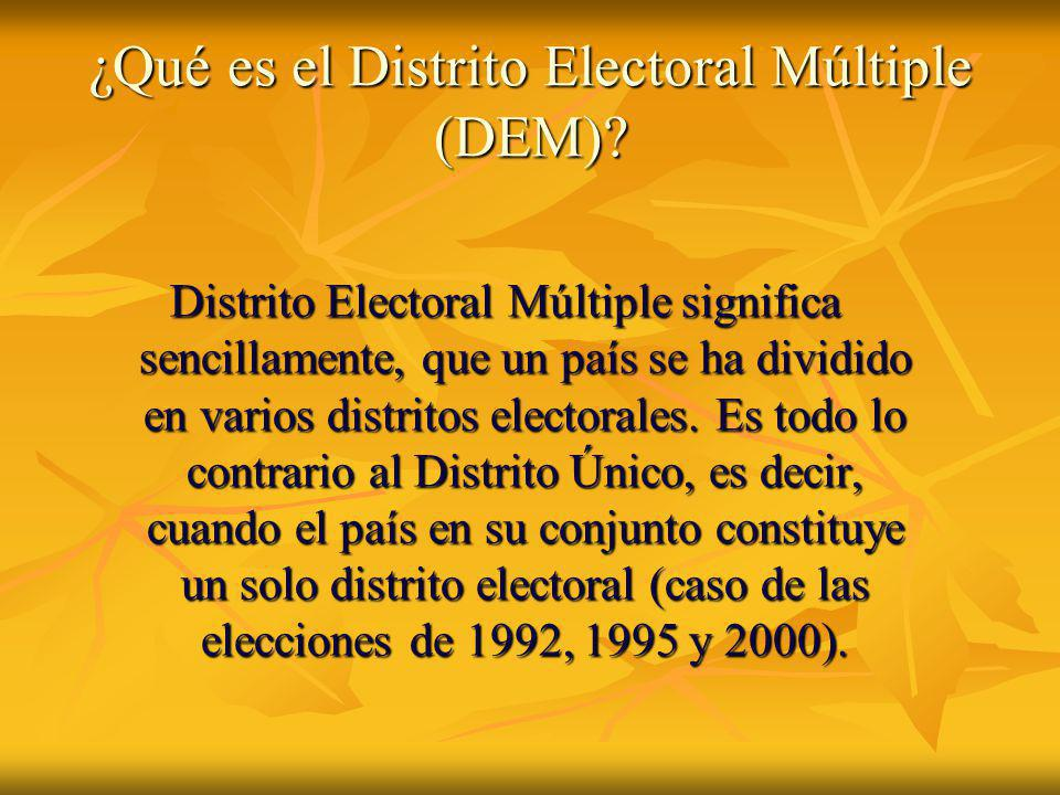 ¿Qué es el Distrito Electoral Múltiple (DEM)