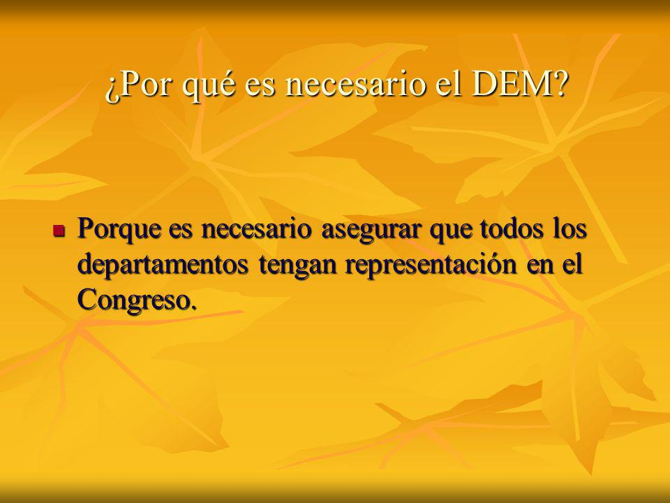 ¿Por qué es necesario el DEM