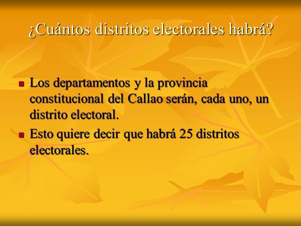 ¿Cuántos distritos electorales habrá
