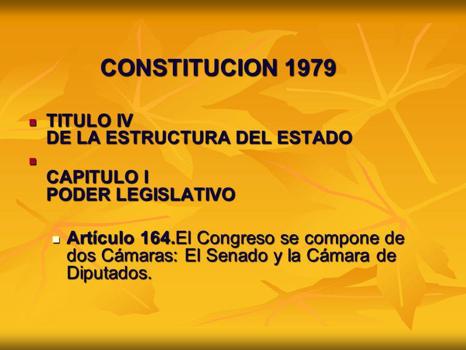 CONSTITUCION 1979 TITULO IV DE LA ESTRUCTURA DEL ESTADO