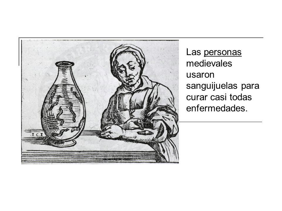 Las personas medievales usaron sanguijuelas para curar casi todas enfermedades.