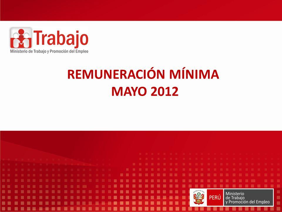 REMUNERACIÓN MÍNIMA MAYO 2012