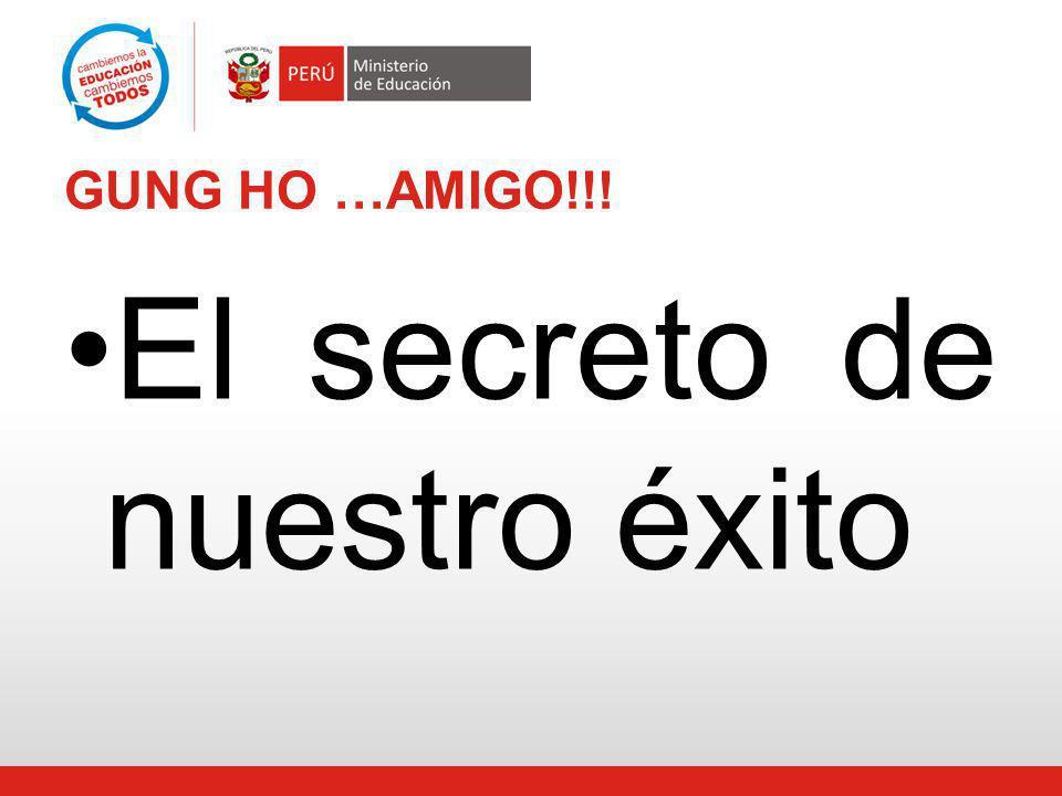 El secreto de nuestro éxito