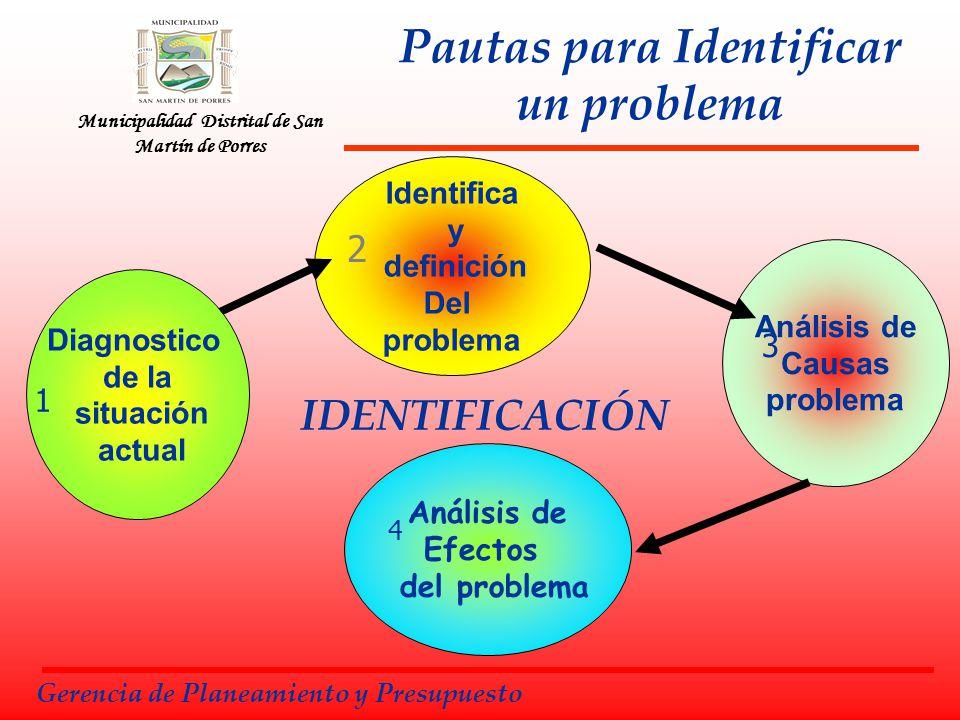 Pautas para Identificar un problema